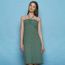 Vestito Gonna Stefanie green peas in Cotone Biologico Equo