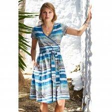 Vestito Incrociato Egeo in Cotone Biologico