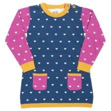 Vestito Little Heart lavorato a maglia per bambina in Cotone Biologico