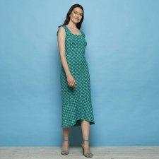 Vestito Naisula Verde in Cotone Biologico Equo