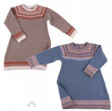 Vestito Nora nordico in pura lana merino