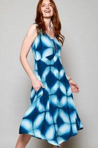 Vestito Tie Dye da donna in Viscosa Equosolidale