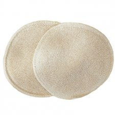 Washable nursing pads silk/wool - Ø11 cm