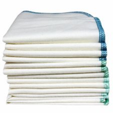 Washable wipes in organic cotton - pack of 12