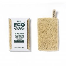 Vegetable plant loofah scrubber for dishes