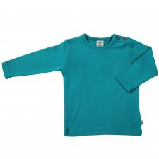 Water green organic cotton long sleeve shirt