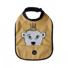 Waterproof High neck bib Isak the Bear