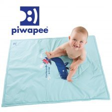 Sea mat waterproof blue for babies Piwapee