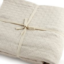 Wave double bedspread in organic cotton