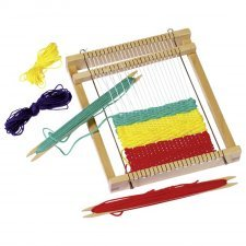 Weaving loom Goki in natural wood
