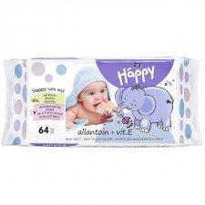 Wep wipes Happy Bella Baby Allantoin and Vit E- 64 pcs