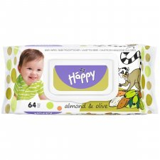 Wet wipes Happy Bella Baby Almond and Olive - 64 pcs