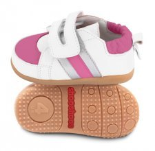 Toddler shoes Pink/White with flexi sole in rubber