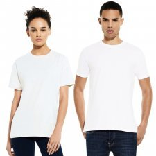 White heavy jersey t-shirt in organic cotton