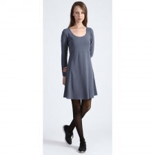 Woman dress Linsell Grey in organic cotton
