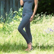 Woman leggings in organic wool and silk Atlantic