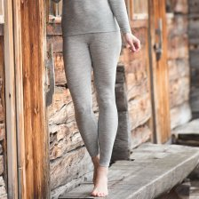 Woman leggings in organic wool and silk Gray