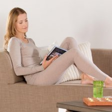 Woman leggings in wool and cotton