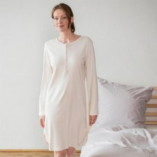 Woman retro nightdress Dominique in organic cotton