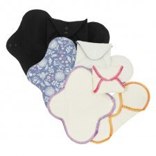 Woman panty liners in organic cotton - set of 3