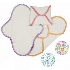 Woman sanitary pads in organic cotton - Regular set of 3