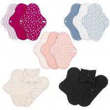 Woman sanitary pads in organic cotton - Regular set of 3