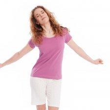 Woman short pyjamas in organic cotton