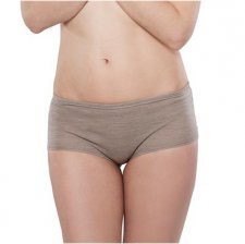 Woman shorts in virgin wool and organic cotton