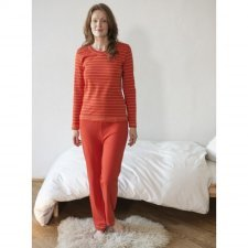 Woman striped pyjamas in organic cotton