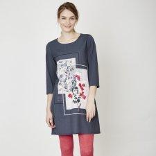 Bouganvillea shift dress in tencel