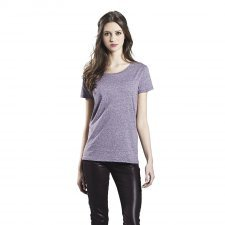 T-shirt melange woman in organic cotton