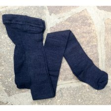 Woman tights in wool and silk Blue