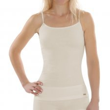 Woman top in 100% cotton bio-fair Natural not dyed