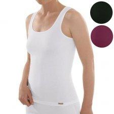 Woman sleeveless top in fairtrade organic cotton
