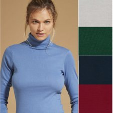 Turtleneck sweater in pure organic cotton