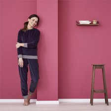 Woman velvet pyjama in organic cotton
