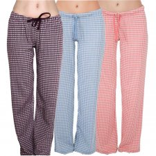 Women pajama trousers in organic cotton