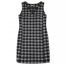 Women's pinafore checks dress in boiled wool