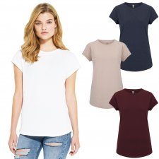 Women's rolled sleeve Salvage Recycled t-shirt in organic cotton