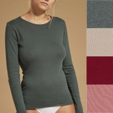 Crewneck sweater in pure organic cotton