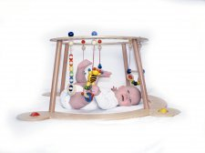 Wooden baby gym and walker