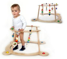 Wooden baby gym and walker Henry