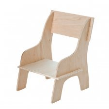 Wooden chair for cuddly dolls
