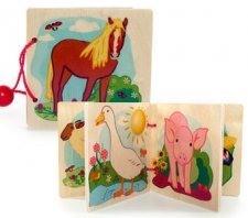 Wooden picture books for babies