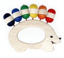 Wooden teether hedgehog