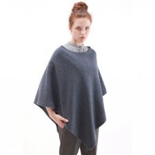 Poncho woman in felted wool