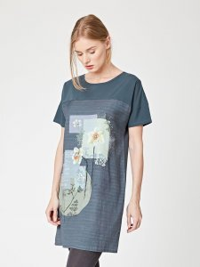 Wordsworth floral print tunic in tencel and organic cotton
