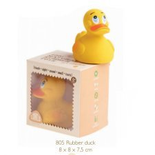 Yellow duck Lanco in natural rubber