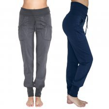 Yoga trousers with pockets in organic cotton