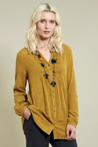 Zigzag woman shirt in fair trade cotton